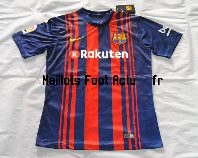 Barcelone 2018 maillot foot domicile 2017 2018