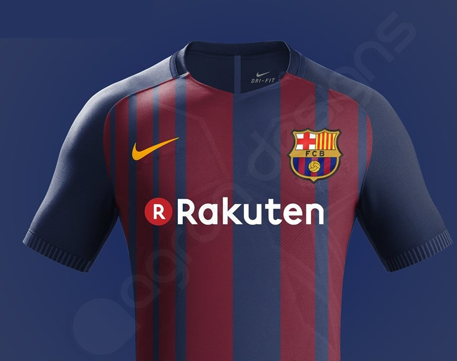 Barcelone 2018 possible maillot foot domicile 2017 2018