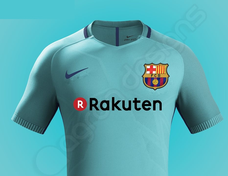 Barcelone 2018 possible maillot foot exterieur 2017 2018