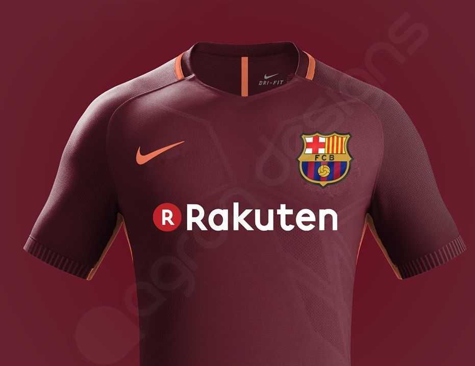 Barcelone 2018 possible maillot foot third 2017 2018