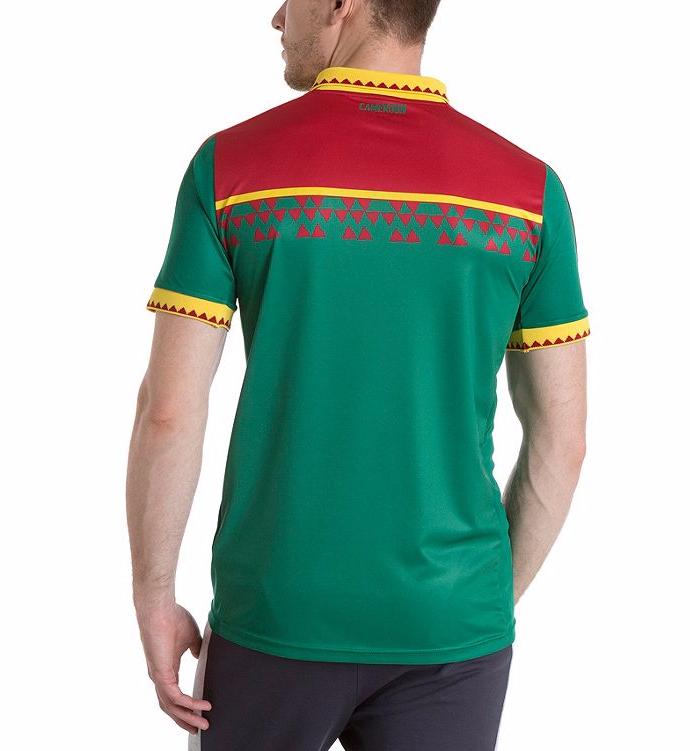 Cameroun 2017 dos du maillot domicile CAN