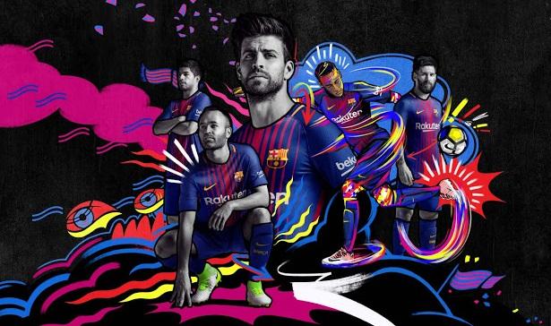 FC Barcelone 2018 maillot de foot domicile officiel