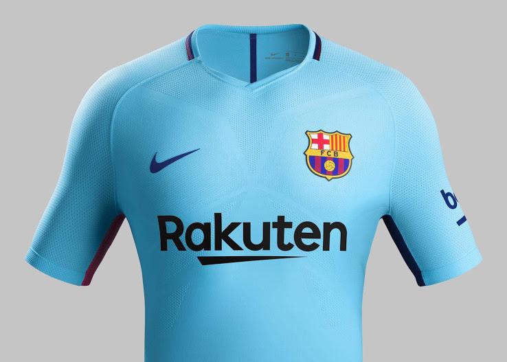 FC Barcelone 2018 maillot exterieur foot 17 18 officiel