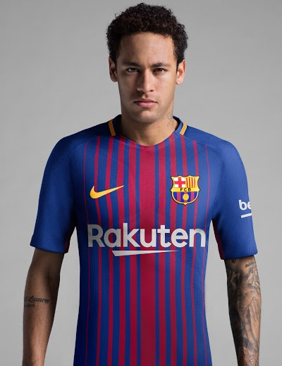 FC Barcelone 2018 maillot foot domicile Neymar 17 18