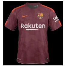 FC Barcelone 2018 troisième maillot third 2017 2018