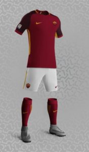 AS Roma possible maillot domicile 17 18