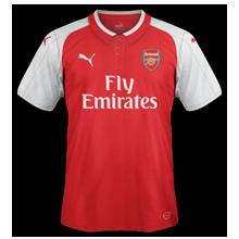 Arsenal 2018 maillot de foot 17 18 domicile