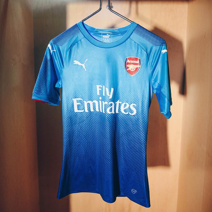 Arsenal 2018 maillot exterieur foot 17 18