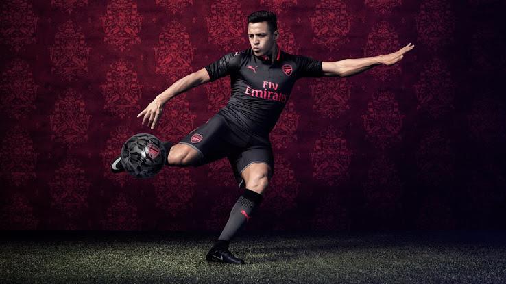 Arsenal 2018 maillot third 17 18 Sanchez