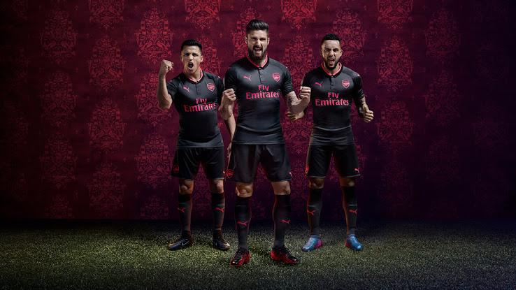 Arsenal 2018 maillot third 17 18 officiel