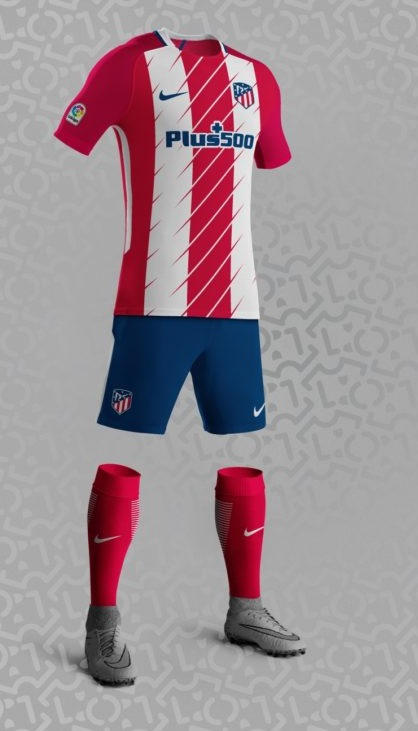 Atletico Madrid 2018 supposition maillot domicile