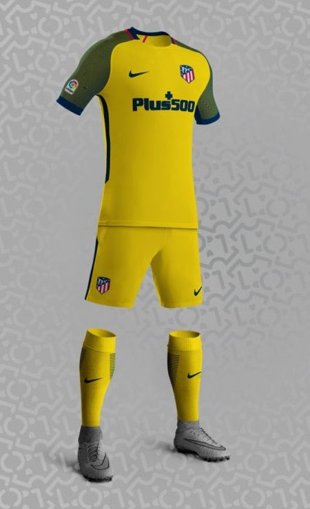 Atletico Madrid 2018 supposition maillot exterieur