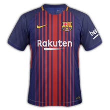 Barcelone 2018 maillot foot domicile 17 18