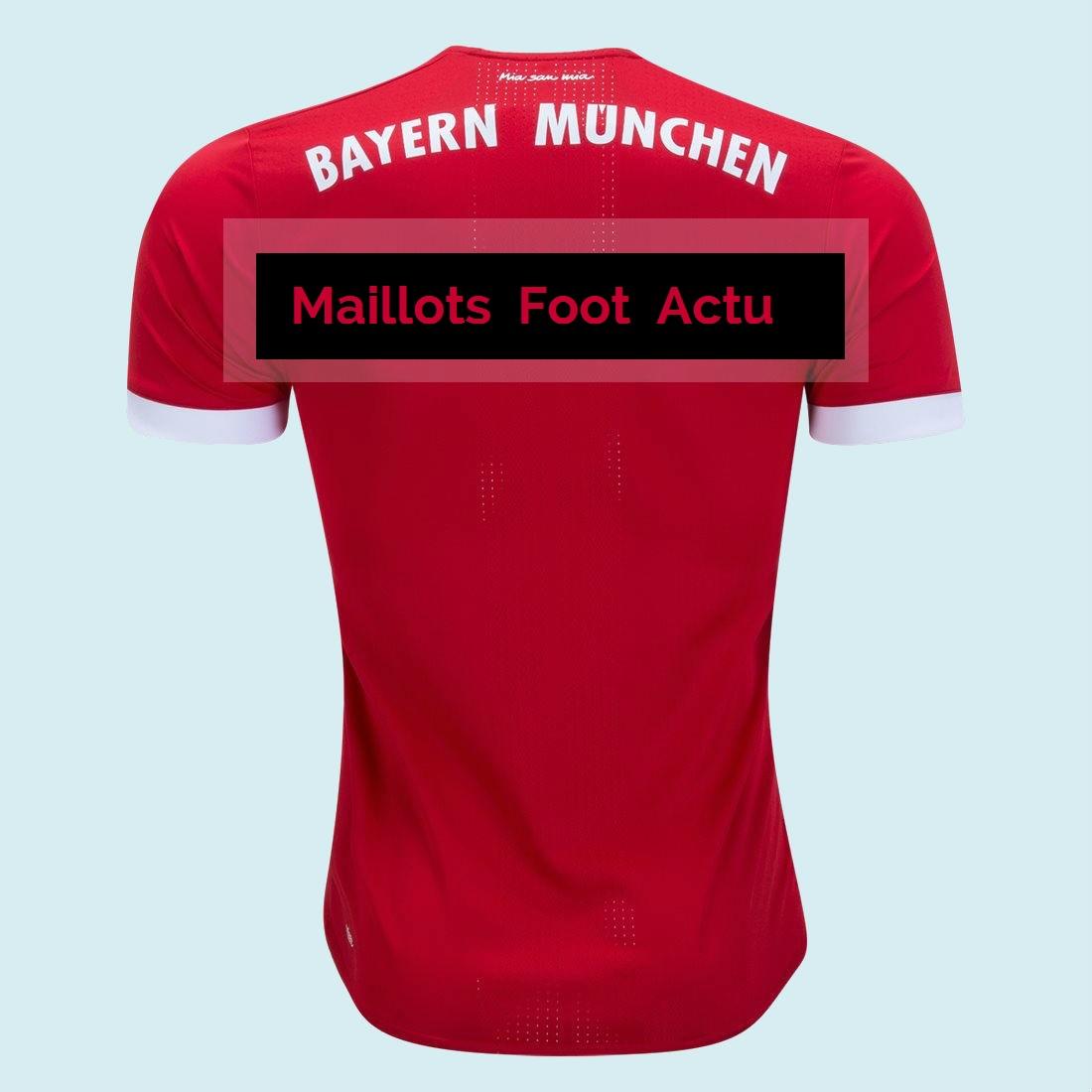 Bayern Munich 2018 dos maillot domicile 2017 2018