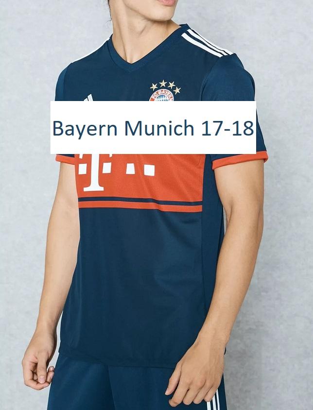 Bayern Munich 2018 maillot exterieur 17 18 Adidas