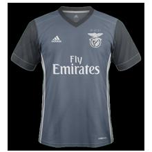 Benfica 2017 2018 maillot extérieur gris