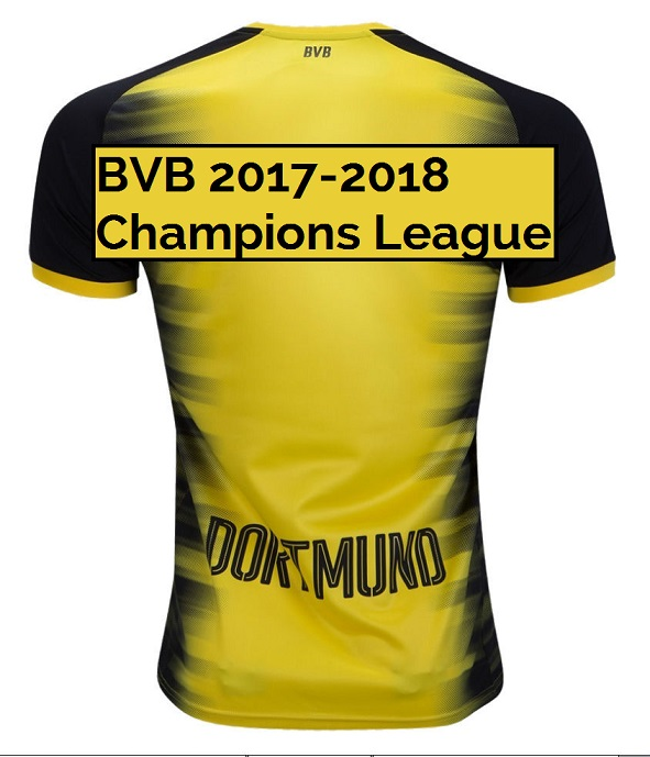 Borussia Dortmund 2018 dos maillot ligue des champions 17 18