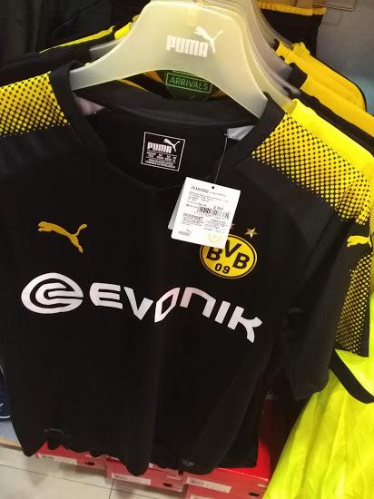 Borussia Dortmund 2018 maillot exterieur 17 18 Puma
