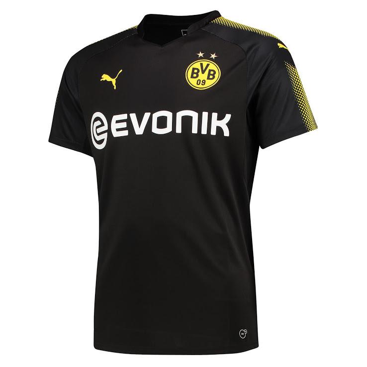 Borussia Dortmund 2018 maillot exterieur noir football 17 18