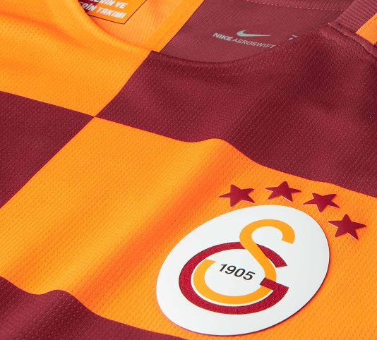 Galatasaray 2018 zoom maillot domicile foot