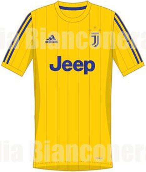 Juventus 2018 maillot foot extérieur jaune