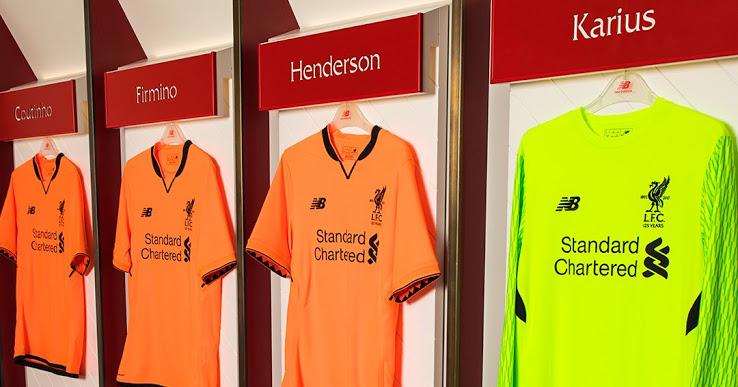 Liverpool 2018 maillot third officiel orange New Balance