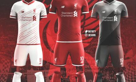 Liverpool 2018 les trois nouveaux maillots de foot possibles