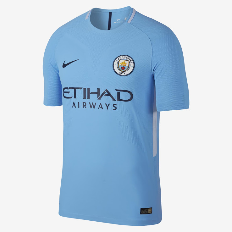 Manchester City 17 18 maillot de football domicile