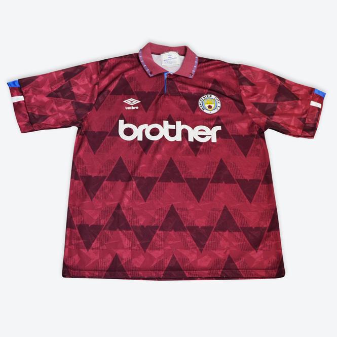 Manchester City 1989 maillot exterieur foot