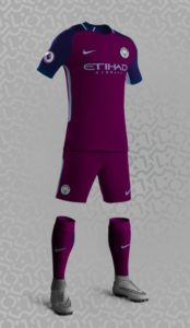 Manchester City 2018 maillot exterieur football probable