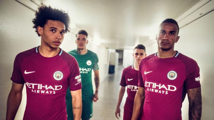 Manchester City 2018 maillot exterieur violet 17 18