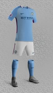 Manchester City 2018 supposition maillot foot domicile