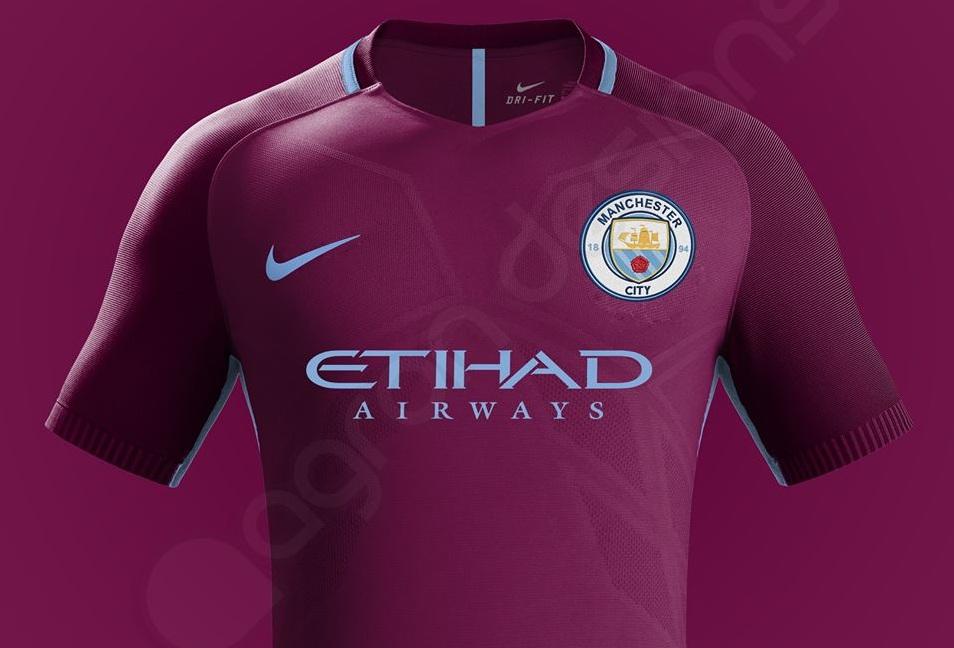 Manchester City couleur maillot exterieur foot 17 18 Nike