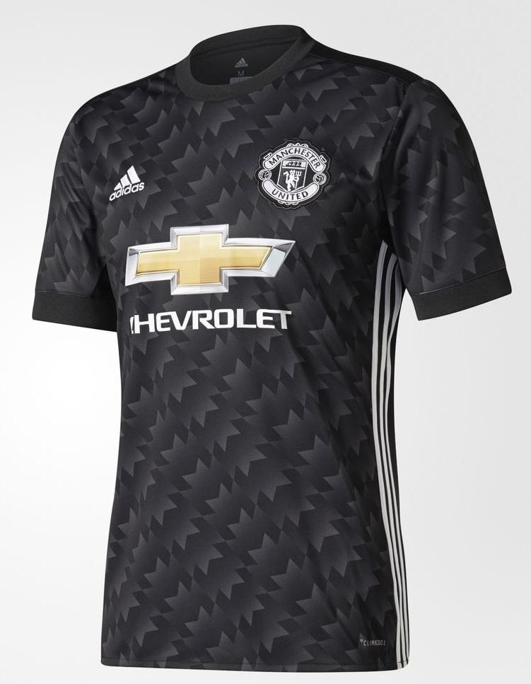 Manchester United 2018 maillot extérieur noir Adidas 17 18