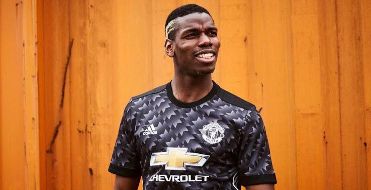 Manchester United 2018 maillot exterieur noir Pogba