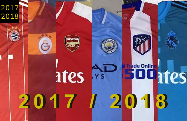 maillot de football 2017 2018 des grands clubs