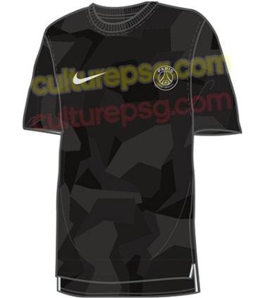 PSG troisieme maillot third noir