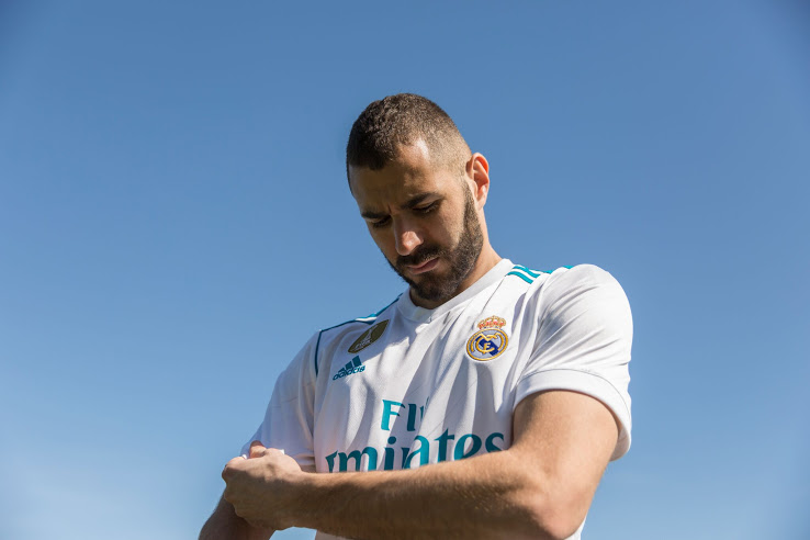 Real Madrid 2018 maillot de football domicile Benzema