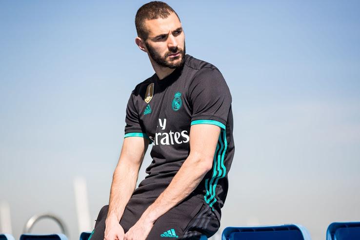 Real Madrid 2018 maillot noir exterieur Benzema