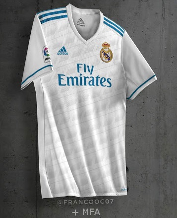 Real Madrid maillot domicile 17 18 supposition