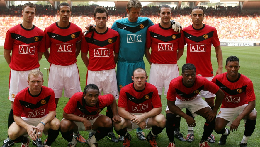 maillot manchester unitted 2009 2010