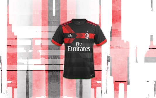 AC Milan 2018 troisieme maillot third dessin
