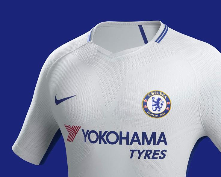 Chelsea 2018 maillot blanc exterieur 17 18