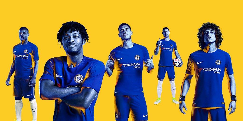 Chelsea 2018 maillot de foot domicile presentation 17 18