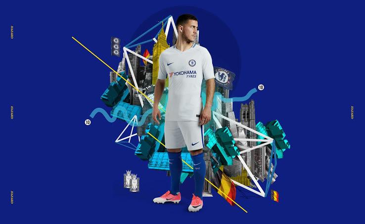 Chelsea 2018 maillot exterieur Nike officiel