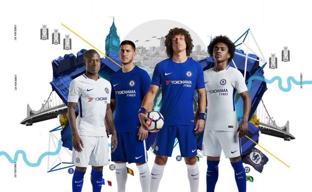 Chelsea 2018 maillots de football officiels Nike