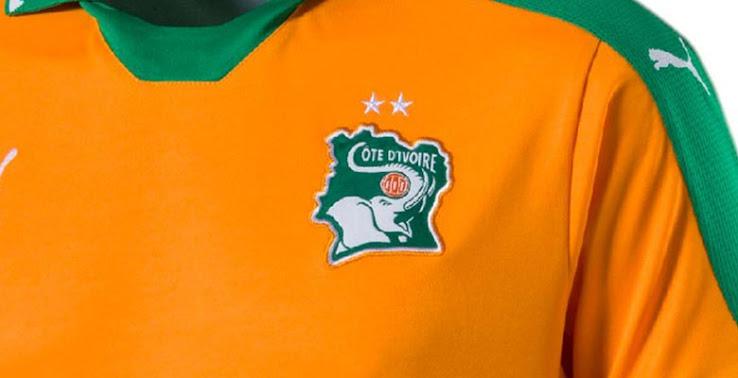 Cote d'ivoire CAN 2017 maillot domicile football