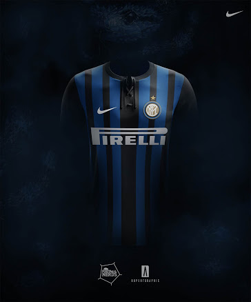 Inter Milan 2017 2018 maillot domicile possible
