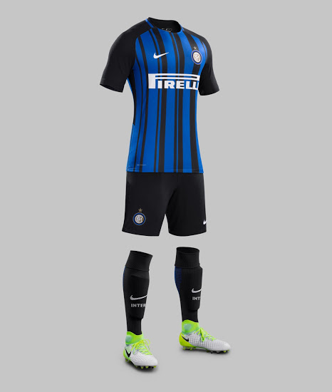 Inter Milan 2018 maillot de ftooball domicile short chaussettes