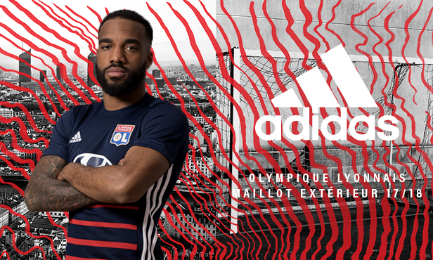 Lyon 2018 maillot extérieur football Adidas
